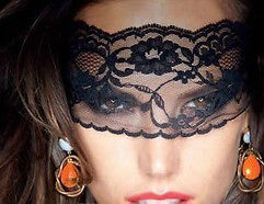 Black Lace Mask - Black Lace Veil | Masks and Tiaras